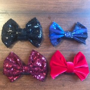 Bundle of Four Interchangeable Velcro Bows